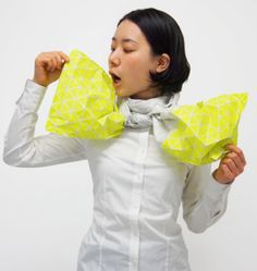 Monomatopee | inflatable fashion inspired by origami | Spoon & Tamago
