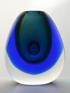 Buy * GOLD MEDAL WINNER!! SCARCE MOSER CZECH ART GLASS SCULPTURAL VASE DESIGNED BY VLADIMIR MIKA IN 1967for R16,500.00