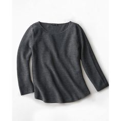 Eileen Fisher Merino Crewneck Pullover (760 BRL) ❤ liked on Polyvore featuring tops, sweaters, eileen fisher tops, crew neck pullover, crewneck pullover sweater, pullover sweater and merino sweater