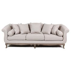 @Overstock.com.com - Ellie 3-seater Sofa - This beautiful 3-seater sofa features a traditional construction with a modern technique. Crafted of oak wood with 100-percent linen upholstery, this neutral sofa will lend a classic look to any decorative motif.  http://www.overstock.com/Home-Garden/Ellie-3-seater-Sofa/8462595/product.html?CID=214117 $1,429.99