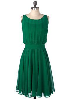 school spirit- green dress
