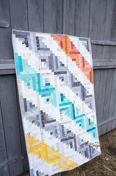 Log cabin quilt from Pomada