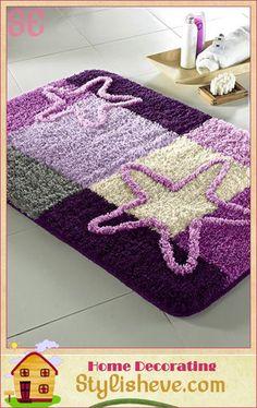 Purple Bathroom Rug Set