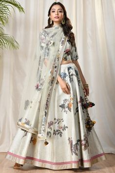 Shop Ri-Ritu Kumar Printed Lehenga Set , Exclusive Indian Designer Latest Collections Available at Aza Fashions Indian Attire, Indian Wear, Indian Outfits, Indian Designer Outfits, Designer Dresses, Chanya Choli, Ritu Kumar, Embroidery Suits Design, Indian Gowns Dresses