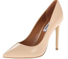 You need nude pumps! Steve Madden Pumps go with jeans, skirt, even a dressy short outfit!