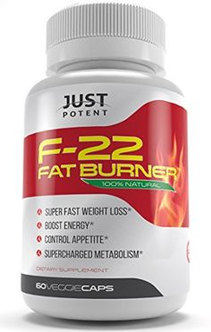 F-22 Fat Burner by Just Potent :: All-Natural Weight Loss Supplement :: Specially Formulated for Fat Burning, Appetite Suppression, Metabolism, and Energy Enhancement :: 2 Month Supply Just Potent http://www.amazon.com/dp/B00PROQ526/ref=cm_sw_r_pi_dp_4v3cwb18SQG3S