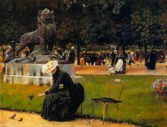 The Athenaeum -In the Luxembourg Garden Charles Courtney Curran - 1889 Terra Foundation for American Art (United States) Painting - oil on panel Height: cm in. Georges Seurat, Kentucky, Maurice Utrillo, Monet, Paris 1900, American Impressionism, Paris Painting, Luxembourg Gardens, Garden Painting