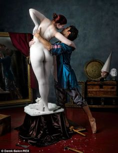 Pygmalion and Galatea: Derek Galon has painstakingly crafted scenes from masterpieces, in ...