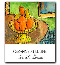 Kids use mix-media techniques to draw and paint a Cézanne inspired still life
