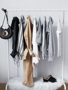 Open Closet Organization Garment Racks Ideas For 2019 Closet Bedroom, Bedroom Storage, Bedroom Decor, Closet Space, Bedroom Inspo, Architectural Digest, Minimalist Closet, Minimalist Chic, Minimalist Fashion