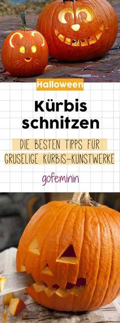 Kürbis schnitzen: So einfach zaubert ihr die Halloween-Kunstwerke selbst!