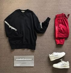 Tomboy Outfits, Athleisure Outfits, Trendy Outfits, Fashion Outfits, Thrasher, Kanye West Style, Sneakers Outfit Men, Hype Clothing, Mens Fashion Wear