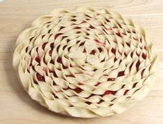 Spiral pie top crust
