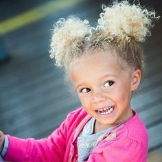 How I Learned To Care For Biracial Curly Hair is part of hair care For Men - We love the adorable sibling duo Stella and Blaise This article is a must read for other moms looking for advice on natural hair care for mixed babies Biracial Hair Care, Curly Hair Care, Natural Hair Care, Natural Hair Styles, Natural Curls, Natural Hairstyles For Kids, Little Girl Hairstyles, Curled Hairstyles, Toddler Hairstyles