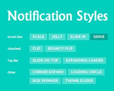Notification Styles Inspiration  #jQuery #notification #style #box #css3 #css #animation #notify