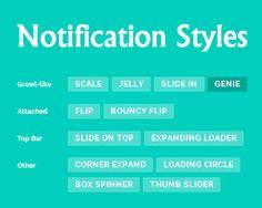 Notification Styles Inspiration