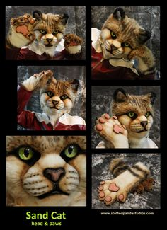 Sand Cat head & paws - by stuffedpandastudios. This is FANTASTIC. I think I finally found where I want to comission a suit someday :)