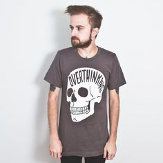Overthinking T-Shirt. Grey or Black. Anxiety Tee.