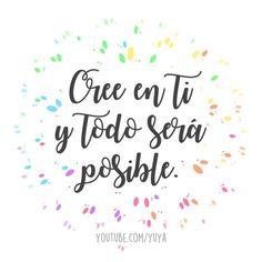 Cree en ti y todo será posible! #frases #éxito #motivación Yoga Quotes, Words Quotes, Me Quotes, Inspirational Phrases, Motivational Phrases, Positive Phrases, Positive Vibes, Flirty Quotes, Quotes En Espanol
