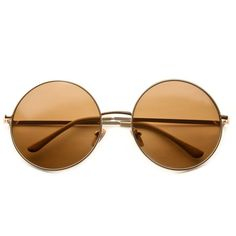 80s - Walker Large Circle Frame Sunglasses (more colors) ($12) ❤ liked on Polyvore