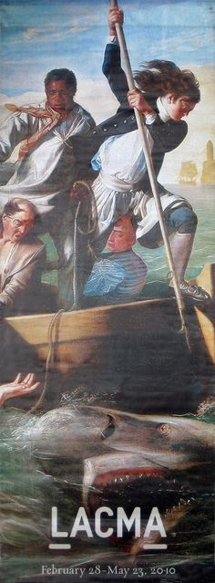 """NEW: John Singleton Copley Watson and the Shark  """"You're going to need a bigger boat"""". A 14 year old boy lives to have a famous artist paint his rescue after a ferocious shark bites off the leg. New to BetterWall from LACMA Los Angeles County Museum of Art.  BetterWall.com"""