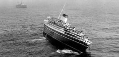 The Andrea Doria Disaster -  On the evening of 25 July 1956, Andrea Doria was bound for New York. Sailing through fog off Nantucket Island, an officer of the watch spotted Stockholm on radar. The 12,165-GRT Stockholm, was just beginning her voyage to Sweden. Inexplicably, the two liners, although visible to each other via radar, steered toward each other at a combined speed of roughly 40 knots.
