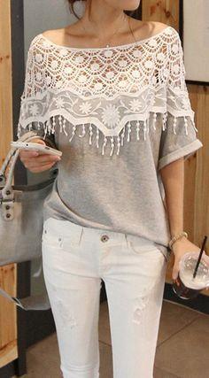 Crochet lace t-shirt elegant tshirt? Ill take it!