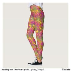 Discover Colorful leggings at Zazzle! Colorful Leggings, Graffiti, Sexy, Pattern, Pants, Design, Women, Fashion, Trouser Pants