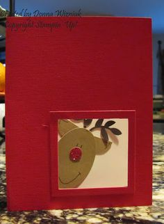 Sherry's Stamped Treasures: Reindeer Punch Art Christmas Card and Open Crop Day