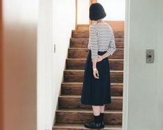 トレンドのミモレ丈スカートとも相性バツグン。