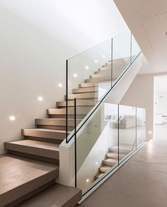 Modern Staircase Design Ideas - Modern stairs can be found in lots of styles and designs that can be real eye-catcher in the various location. We've assembled best 10 modern models of stairways that can give. Home Stairs Design, Interior Stairs, Dream Home Design, Modern House Design, Home Interior Design, Interior Architecture, Room Interior, Staircase Design Modern, Staircase Glass Design