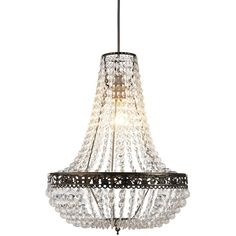Victoria Jewelled Pendant Light Fitting (£27) ❤ liked on Polyvore featuring home, lighting and ceiling lights