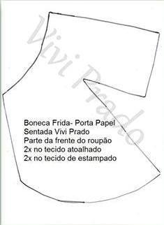 Hoje Vivi Prado disponibilizou os moldes da boneca porta rolo de papel higiênico, sensação do momento nas redes sociais. Compartilho com vo...