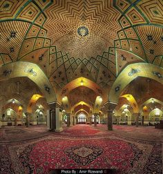 Haj Shahbaz Khan Mosque, Established (1819 AD ), Kermanshah, Iran (Persian…