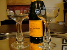 Vintage Champagne Coupes for Bride and Groom by SalonDuThe on Etsy, $16.00