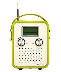 Just like the radio he grew up with--except digital. Songbird radio, $49.95; crosleyradio.com. Greg Marino/Studio D  - Redbook.com