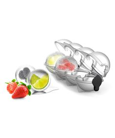 Ice Tray. . ...   Prepara. . ...   $7.99 $9.99  .  .  Product Description:  Add fun and function to your kitchenware collection with this clever ice form. Fill it with juice, herbs, citrus and more, and taste the flavor as you sip.      Includes one form that makes four balls  .     2.5'' W x 9'' H x 2.25'' D  .     Plastic  .     BPA-free  .     Dishwasher safe  .     Imported