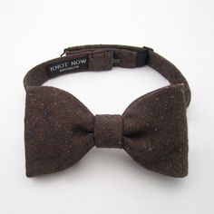 Cocoa Speckle Bow Tie by KnotNowBowTies on Etsy, $42.00
