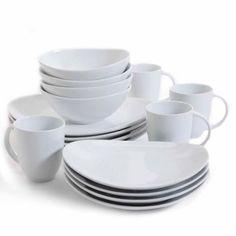 10 Strawberry Street Nova Square Banquet 45-Piece Dinnerware Set ...