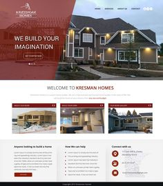 create website for custom home builder by Design Injector