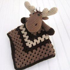 "27 likerklikk, 2 kommentarer – Sugar and Spice creations (@sugarnspicecreations) på Instagram: ""Crochet Moose Lovey link in bio #crochetblanket #crochet #moose #securityblanket #lovey…"""