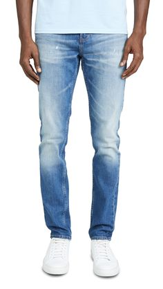 CALVIN KLEIN JEANS SKINNY JEANS IN BUTCH BLUE. #calvinkleinjeans #cloth