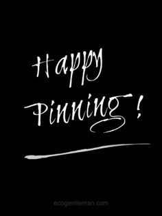 ♂ Happy pinning Black & white #ecogentleman