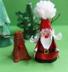 Santa and his friends - egg carton crafts // Télapó és barátai - ötletek tojástartóból // Mindy - craft tutorial collection // #crafts #DIY #craftTutorial #tutorial #ChristmasCrafts #Christmas