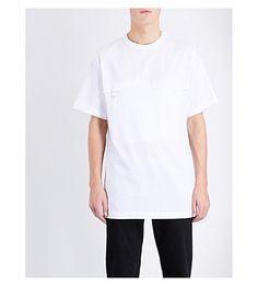 BLOOD BROTHER Zip Patch Pocket Cotton-Jersey T-Shirt. #bloodbrother #cloth #tops & t-shirts