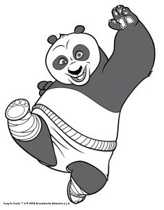 Po Training To Fight Movie Kung Fu Panda Coloring Pages For Kids