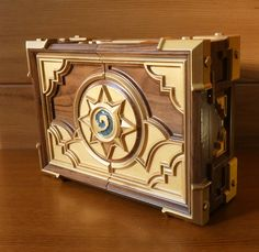 HS box replica. Made of solid walnut wood. Wood carving. http://etsy.me/2DXOLVz #hearthstone #hearthstonebox #box #wooden #jewelry #premium #giftideas #custom #hsbox #ccg #card #game #warcraft #birthday #valentinesday #motherday #etsy @etsy #htc #casket #woodcarving