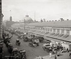 Quincy Market, Boston, c1904, Vintage Photo