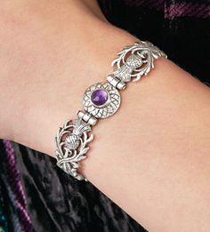Celebrating Scotland - Hinged Thistle Bracelet--eternal symbol of Scottish pride. Great gift for maid of honor Bijoux Design, Schmuck Design, Jewelry Design, Body Jewelry, Jewelry Box, Jewelry Accessories, Unique Jewelry, Jewlery, Fashion Accessories