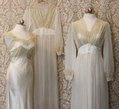 vintage honeymoon 1930s peignoir set / silk by AnatomyVintage, $198.00